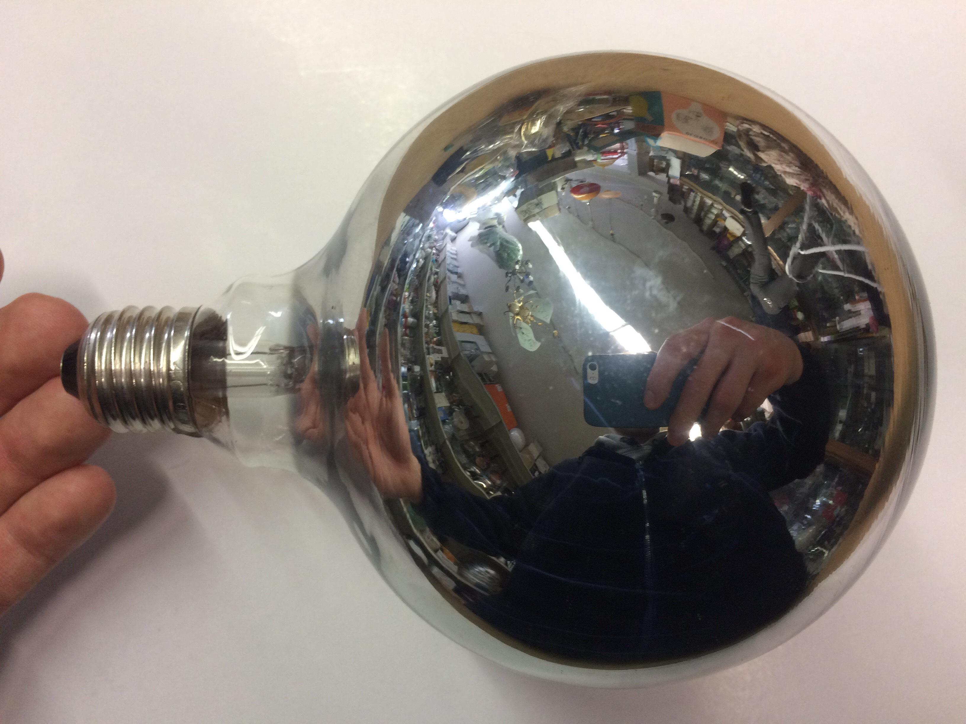 Lampade Globo A Basso Consumo : Lampadina globo d120 60w e27 argentata rampazzo luce